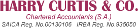 Harry Curtis & CoINDEPENDENT REGULATORY BOARD FOR AUDITORS (IRBA) - Harry Curtis & Co